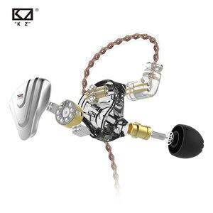 Image 4 - Металлические наушники Terminator KZ ZSX, 12 шт., гибридные Hi Fi басовые наушники 5BA + 1DD, наушники с шумоподавлением, гарнитура, монитор