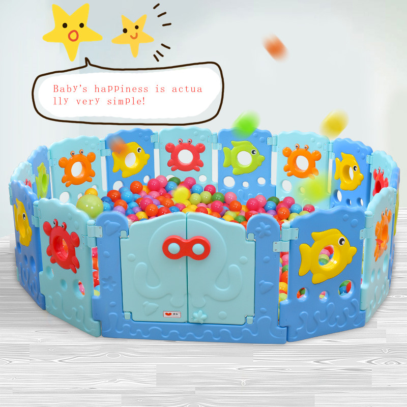 Baby Playpens Children's Game Crawling Pads Toddler Fencing Animal Cartoon Safety Fence Baby Home Interior