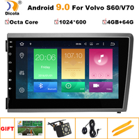 8IPS 4G LTE Android 9 Car DVD PC Multimedia DVD Player GPS Navi Stereo Radio Fit VOLVO S60 V70 XC70 2000 2001 2002 2003 2004