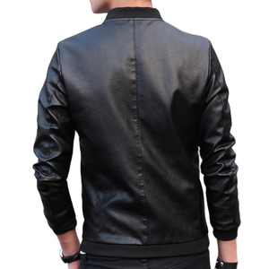 Image 4 - 2019 Autumn Winter Mens Leather Coat Korean Slim Fit Leather Jackets Size M 4XL Fashion Casual Outwear for Man Jacket