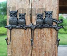 27X5.7X16cm Country Retro Vintage Cast Iron Crafts Wrought Iron Hook Wall Hanging Wall Owl Hook walworth manufacturing illustrated catalogue of wrought and cast iron pipe