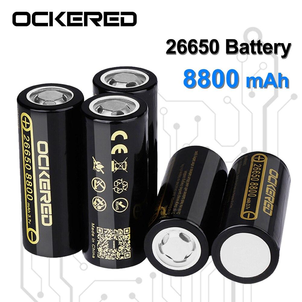 Новый оригинальный 26650 перезаряжаемый аккумулятор 8800mAh литий-ионный аккумулятор для светодиодный фонарик