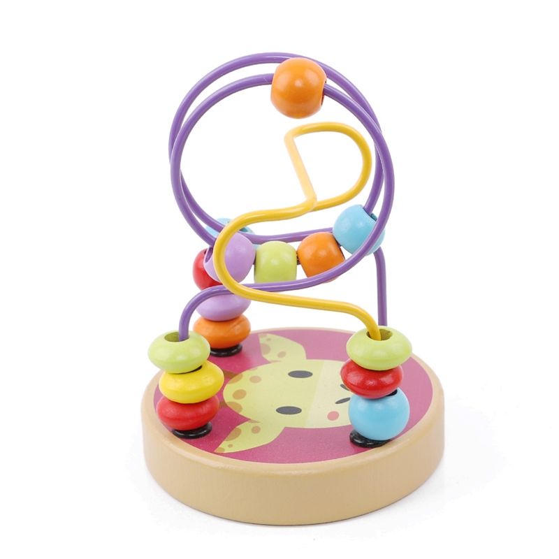 Round Beads Wooden Animal Small Bead High Quality Exquisite Simple Durable Child Toys