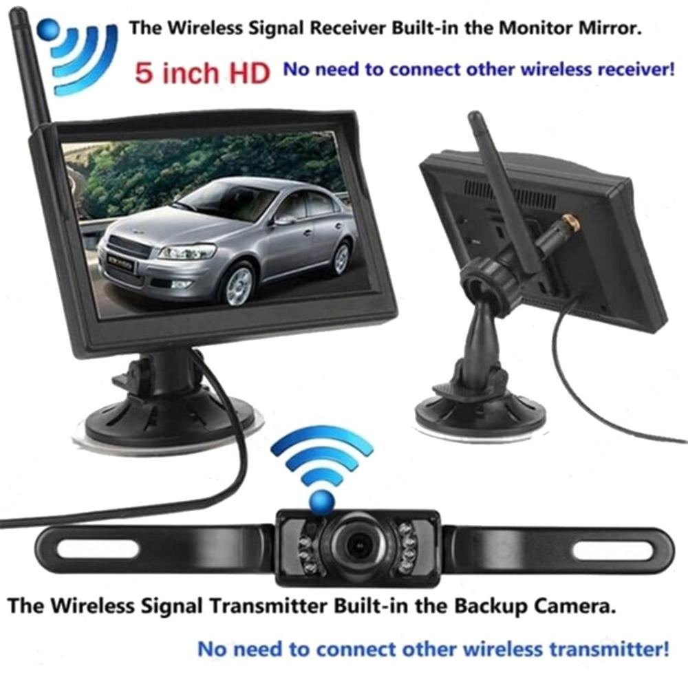 Built-In Wireless Waterproof Night Vision System Reverse Backup Car Camera Black Dropshipping