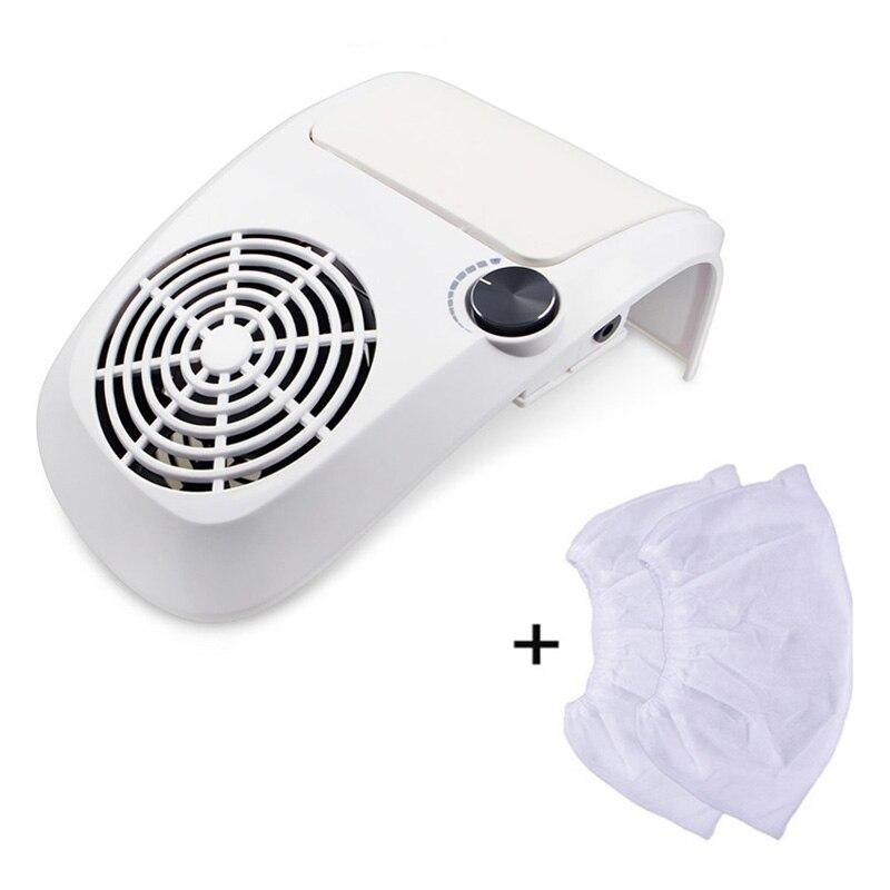40 Вт Мощный пылесборник для ногтей пылесос с 2 мешок пылесборник оборудование для ногтевого салона Инструменты для ногтевого салона