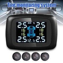 Автомобильная система контроля давления в шинах TPMS цифровой дисплей регулируемый экран 4 датчика C66