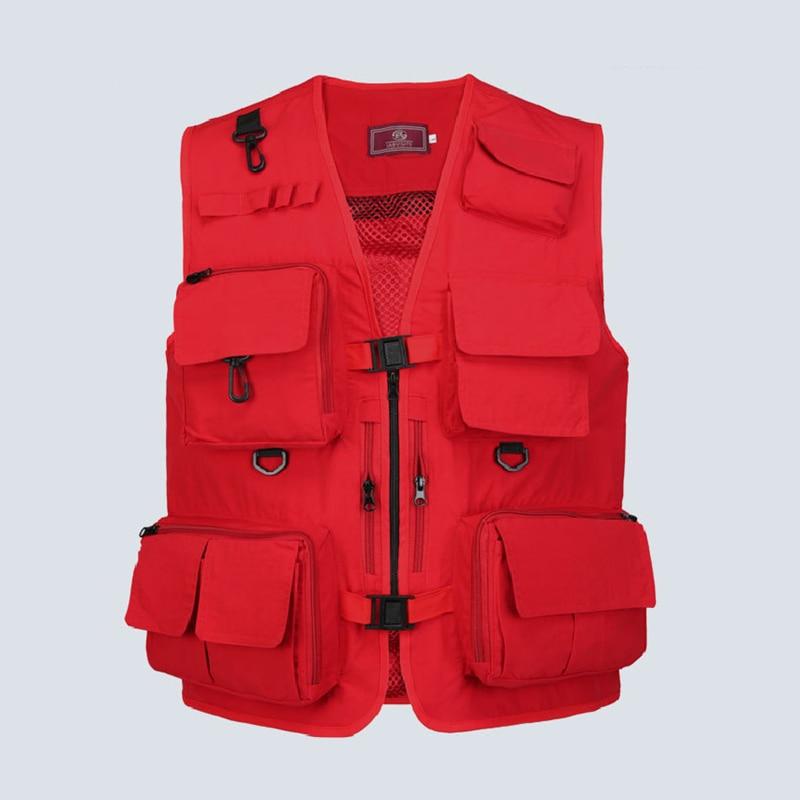 Multi Pocket  Fishing Vests Quick Dry Breathable Outdoor Mesh Jackets Photography Hiking Vest Outdoor Sport Men Breathable Vest