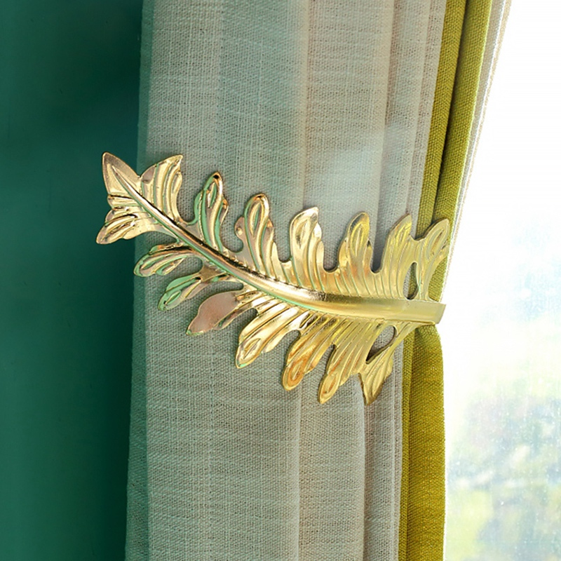Permalink to Window Curtain Holder Living Room Curtain Holdback Europe Curtains Decoration Accessories Tie Back Leaves Curtain Hooks