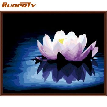 RUOPOTY  Flowers Diy Painting By Numbers Kit Modern Wall Art Picture Coloring By Numbers Unique Gift For Home Decoration