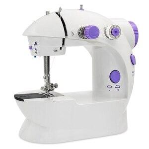 Mini maszyna do szycia, AU Plug przenośne elektryczne maszyny do szycia z lampą i obcinarki do nitek, wysokie i niskie prędkości, bateria lub Adapter