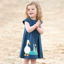 Little Maven 2021 New Summer Baby Girl Clothes Brand Striped Dress Kids Cotton Animal Bunny Flower Print Sleeveless Dresses