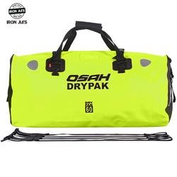 OSAH drypak 40L/60L Motorrad Wasserdichte Dry Bag Pack Schwimmen Rafting Kajak Fluss Trekking Schwimm Wasser Widerstand tasche