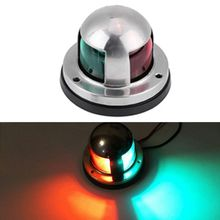 цена 12V Stainless Steel Red&Green LED Navigation Signal Light Lamp Yacht Accessory For Marine Boat в интернет-магазинах