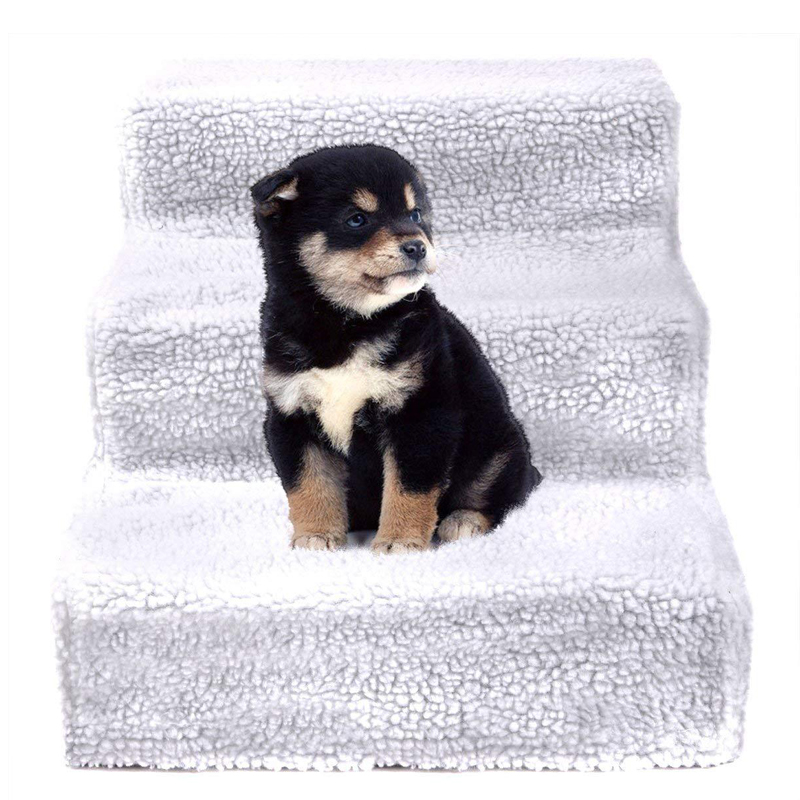 Petshy Pet Dog Ladder Steps for Dogs Cat Bed House Climbing Ramp Ladder Puppy Small Medium Dog Stairs Cat Staircase Pet Supplies