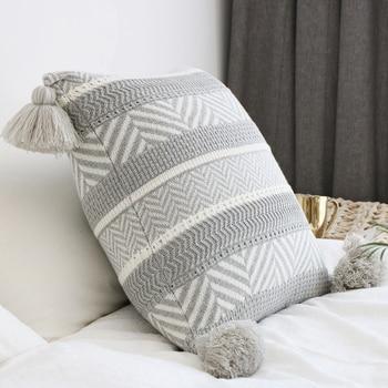 REGINA Geometric Knitted Cushion Cover