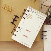 DIY Metal Clip 3 Holes Ring for Notebook Loose Leaf Diary Photo Album Binding 37MC