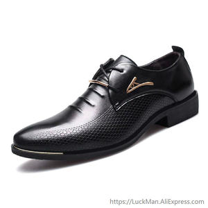 Formal Shoes Oxford Classic Pointed-Toe Black Plus-Size Mens Luxury Brand Man Male Pu