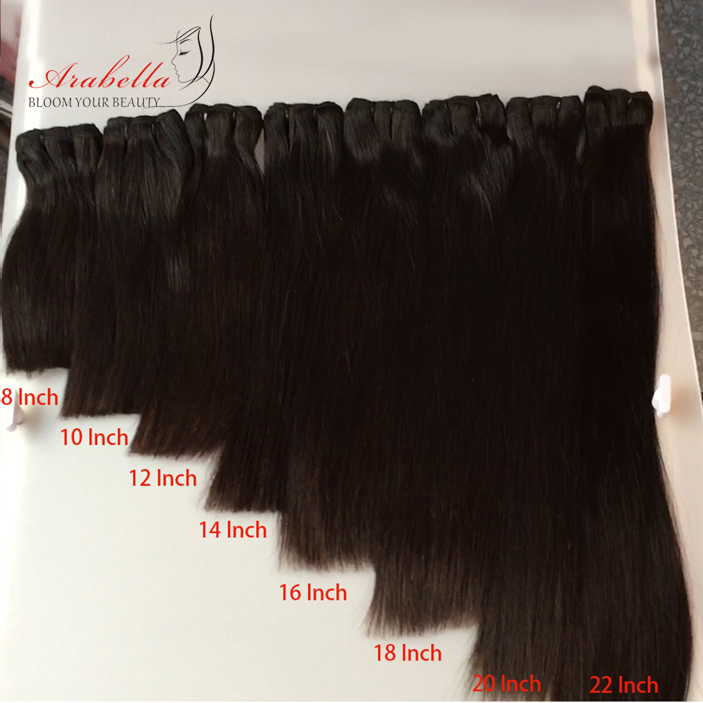 Super Double Drawn Hair Bundles With Closure PrePlucked Bleached Knots Arabella Virgin Hair  With 4*4 Double Drawn Closure 2