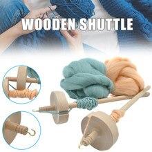 Nova gota quente eixo topo whorl fio rotação mão esculpida ferramenta de madeira presente para iniciantes usj99