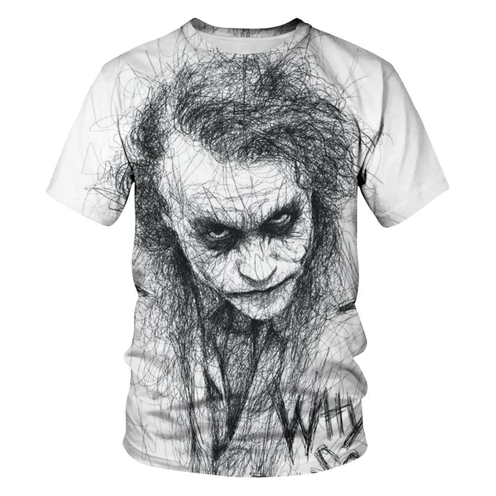 New Clown Summer Flame 3d T-shirt  Printed Short Sleeved T-shirt Men Round Neck T-shirt Women And Men3D Harajuku T-shirt 5XL