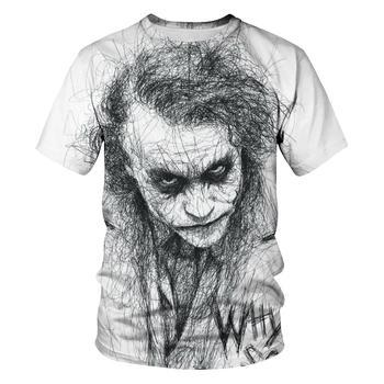 New clown summer flame 3d T-shirt  printed short sleeved T-shirt men round neck T-shirt women and men3D harajuku T-shirt 5XL цена 2017
