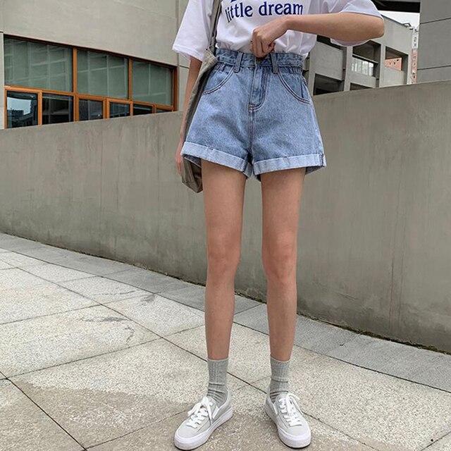 High Waist Denim Shorts for Women