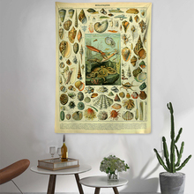 Sea Tapestry Creative Wall Hanging Retro Abstract Carpet Decorative Chambre Fille Tapestries