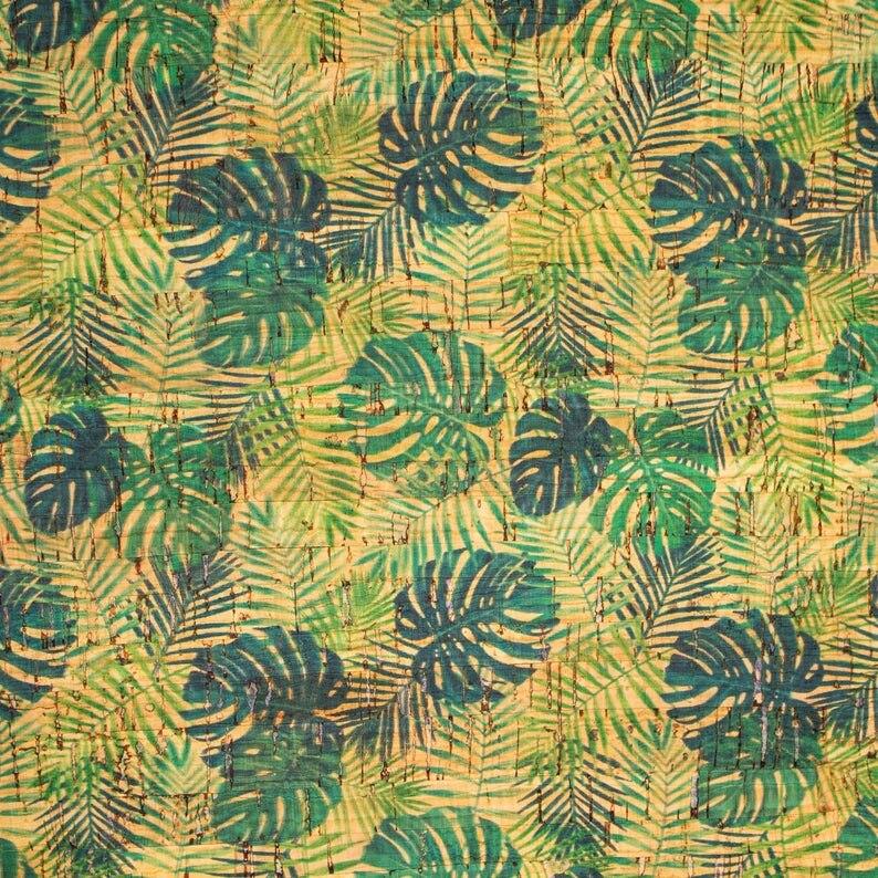 Tejido de corcho portugués con hojas de palma y Areca, tejido de corcho, hoja de corcho, material natural COF-244