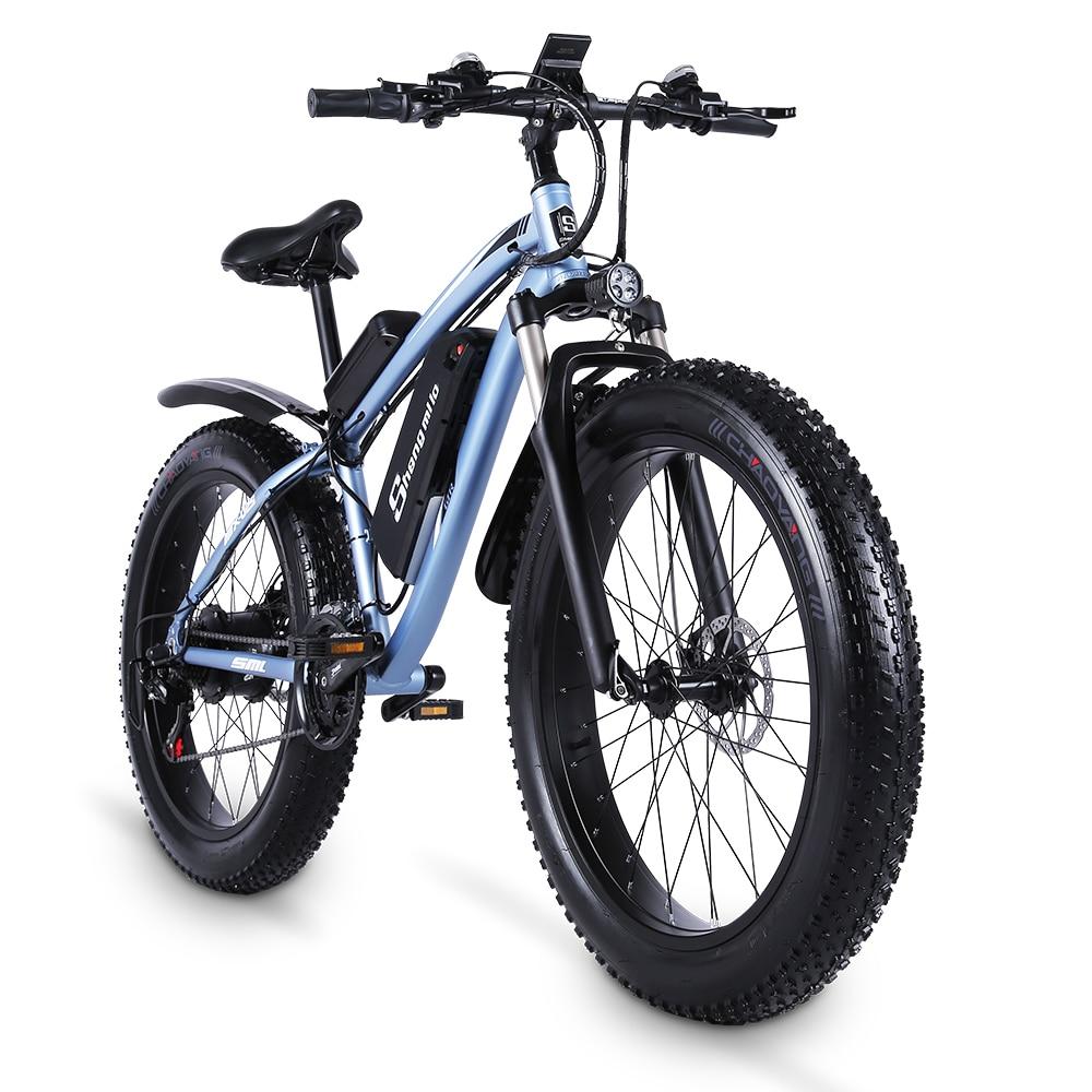 Shengmiluo Electric Bike MX02S Mountain Electric Bike 1000W Bike 26 Inch Men's bicycle Outdoor Beach Mountain Bike 48V17AH 3
