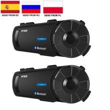 Fodsports 2 Pcs FX8 Helm Intercom Motorfiets Bluetooth Helm Headset 8 Rider 1000M Moto Interphone Intercomunicador Fm