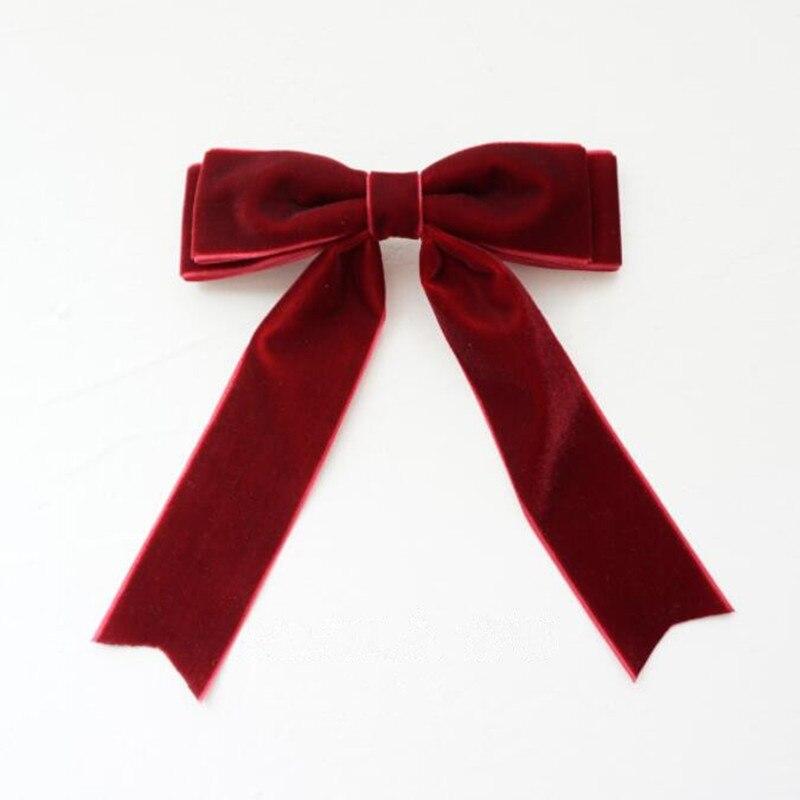 2pcs Velvet Hair Bow Ties Hairpins Women Elegant  Hair Clips Barrettes Bowknot Hairpin Hair Accessories