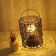 Lámpara 3D Retro en forma de Casa bombilla LED lámpara de noche alambre de cobre decoración para fiestas en casa de boda para decoración de dormitorio regalos de cumpleaños