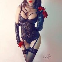 Corset ผู้หญิงเซ็กซี่ Bustier Steampunk Corset ชุด Gothic หนัง Corset Slimming ความใกล้ชิด Gothic เสื้อผ้า Burlesque Bustier เซ็กซี่