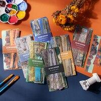 Van Gogh Aufkleber 30 stücke 7 Design Dekorative notebook Scrapbooking Material aufkleber Tagebuch Album Liefert Stick Label