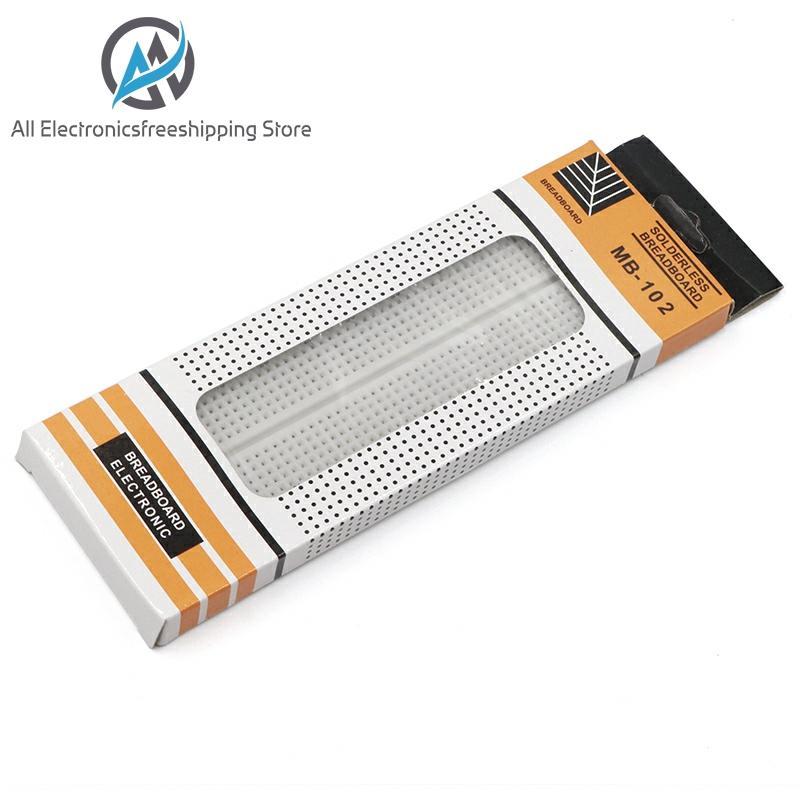 Breadboard 830 Point PCB Board MB-102 MB102 Test Develop DIY Kit Nodemcu Raspberri Pi 2 Lcd High Frequency