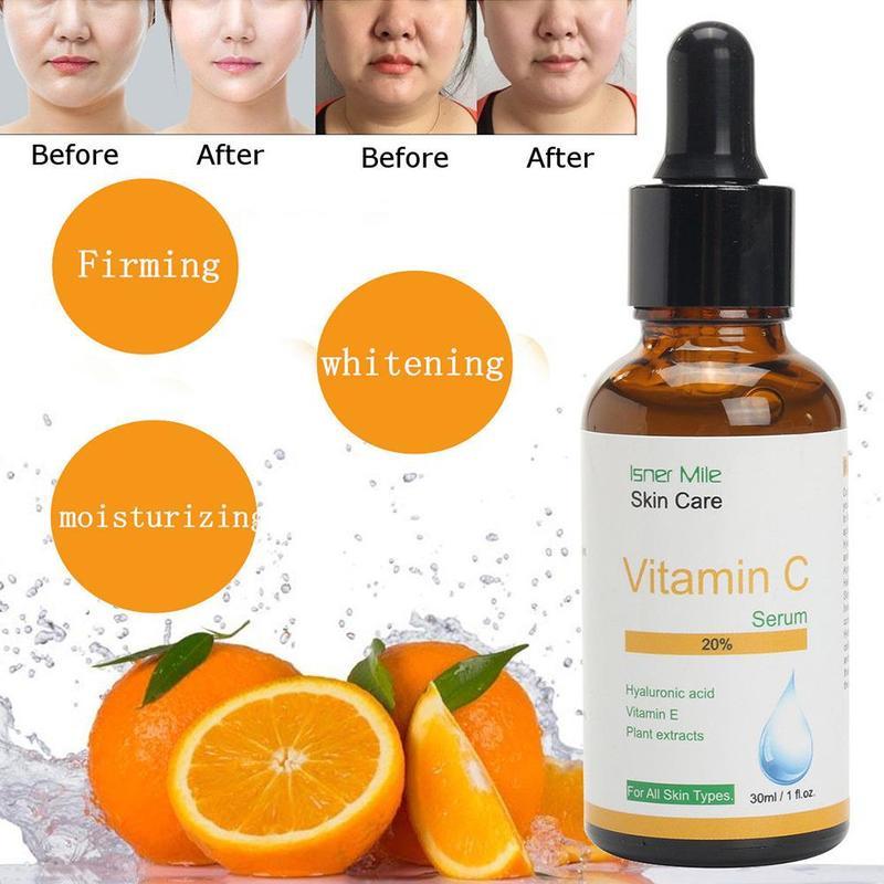 Hyaluronic Acid Vitamin C + Serum Skin Brightening Wrinkles Moisturizng HJH1090 Anti M3A9