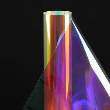 HOHOFILM tęczowa folia okienna opalizująca folia okienna folie szklane strona główna szkło dekoracyjne naklejka kolor Chamelon tanie i dobre opinie CN (pochodzenie) Samoprzylepne HR013 Folie na szyby DEKORACYJNY izolacja cieplna Iridescent window film
