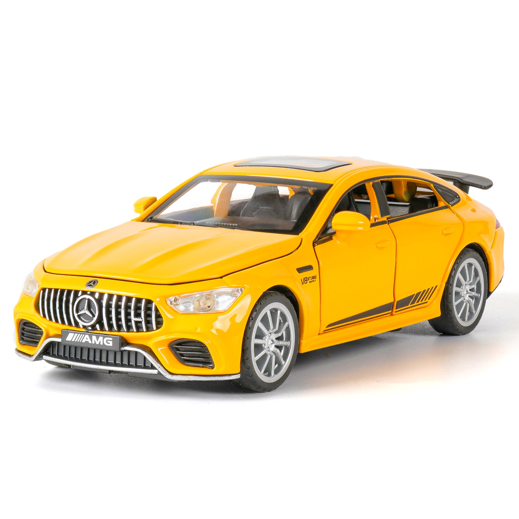 1:32 Car Model Mercedes AMG GT63 Diecasts Toy Vehicles Alloy Racing Sports Sound And Light Pull Back Wheel For Children Gifts