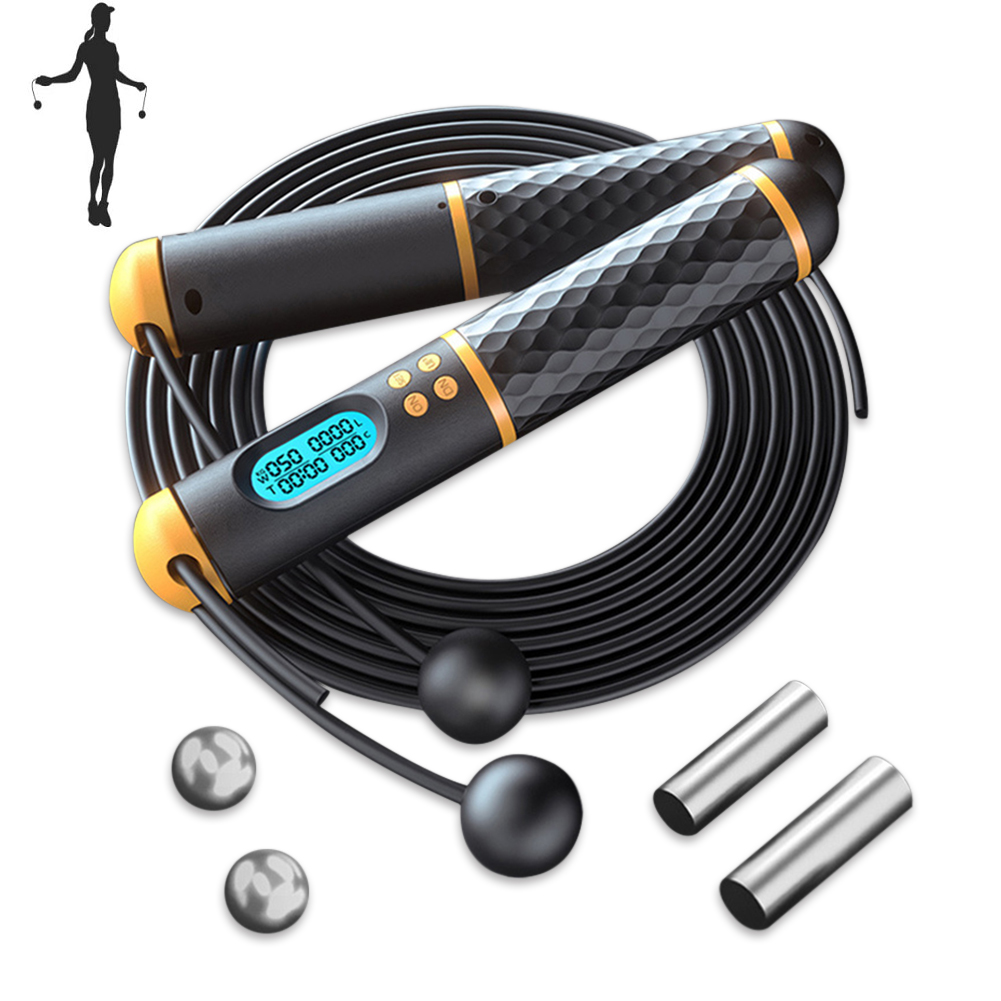 2.8m//9ft Adjustable Boxing Skipping Rope Gym Weighted Jump Adult Speed Ropes Kid