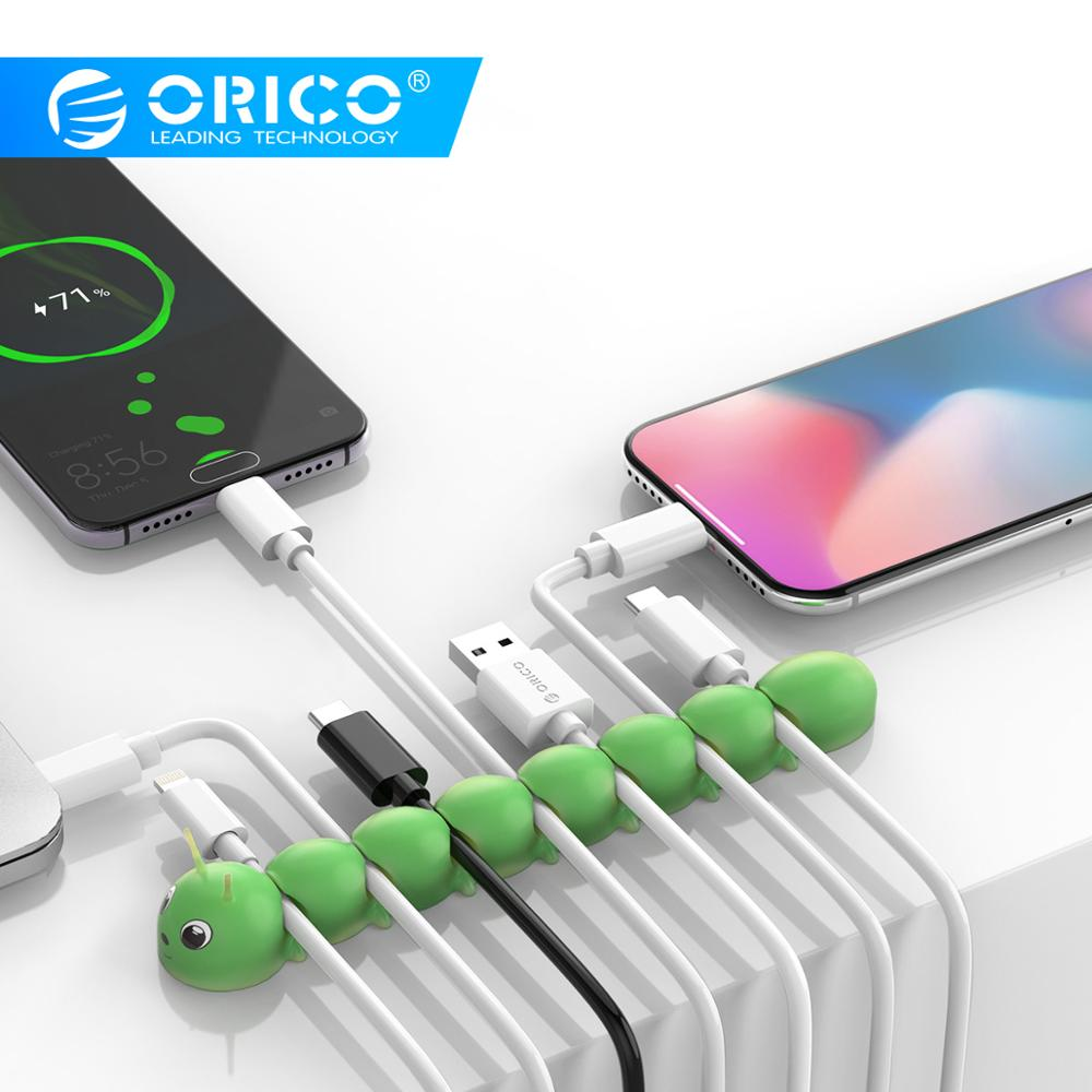 ORICO Cable Organizer Management For Mobile Phone Cable Earphone USB Charging Cable Winder Management Mouse Wire Holder Clips