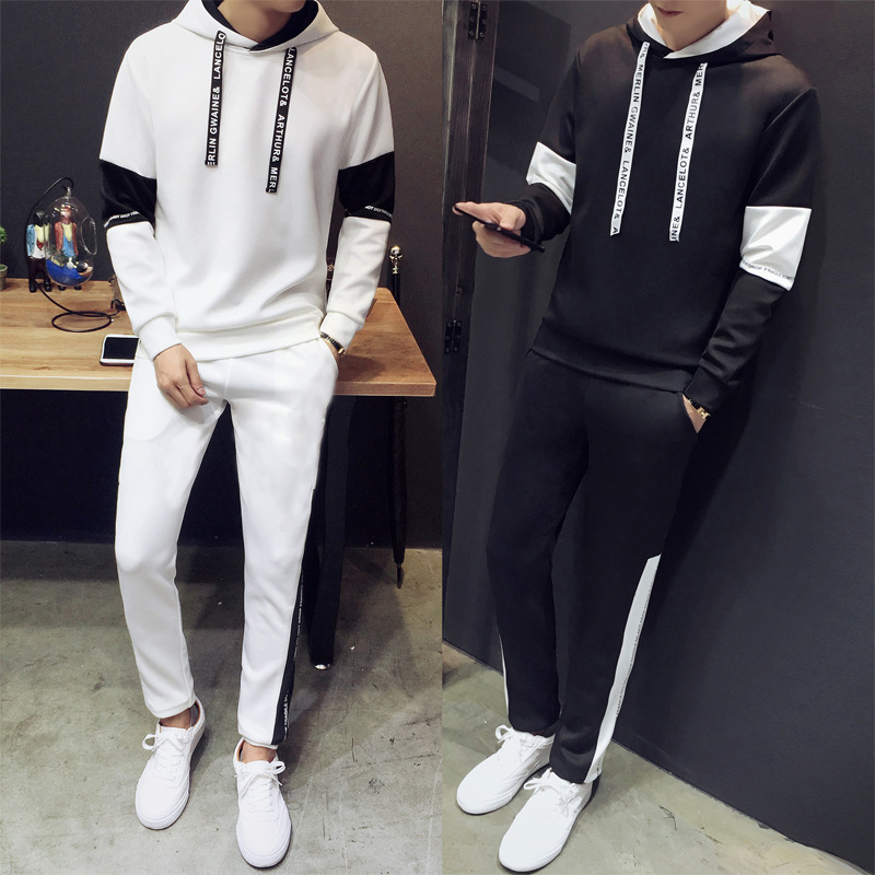 2017 Autumn New Style Men's Large Size Casual Sports Hoodie Set Two-Piece Set Fashion MEN'S Trousers