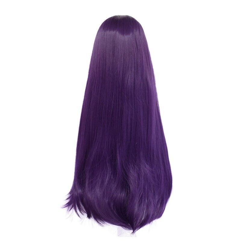 DDLC Doki Doki Literature Club Yuri femmes violet longue perruque Cosplay Costume r/ésistant /à la chaleur synth/étique cheveux f/ête jeu de r/ôle perruques