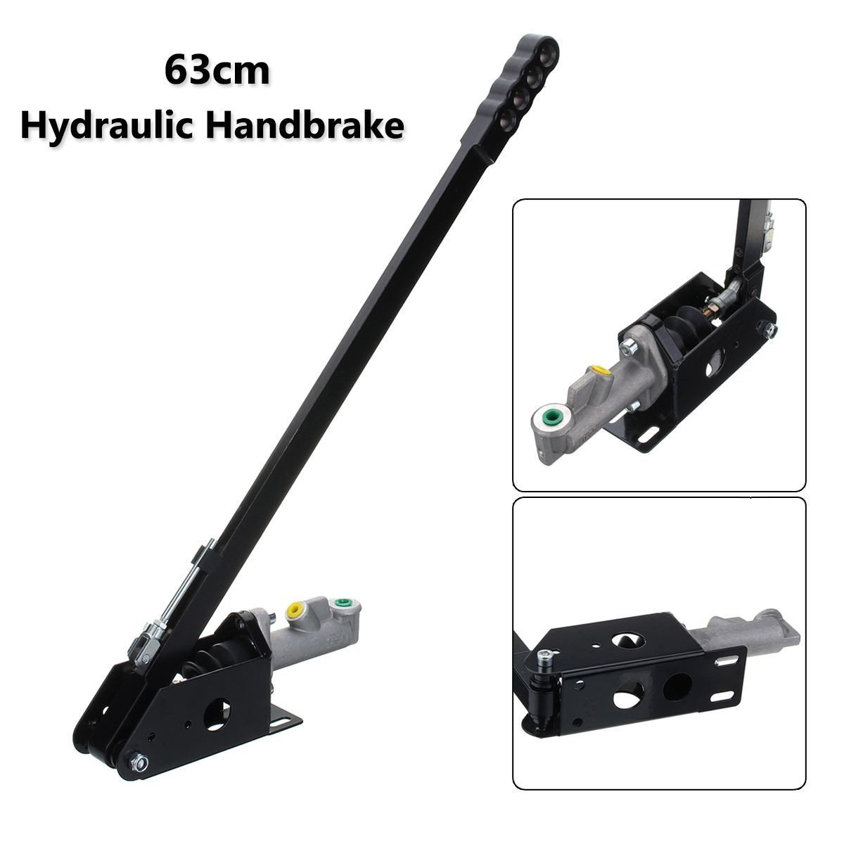 63cm Universal Long Vertical Hydraulic Handbrake Hydro E-brake Drift Race Hand Brake title=