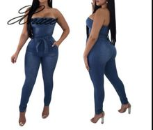 Xnxee European and American sexy tight-fitting stretch denim suit