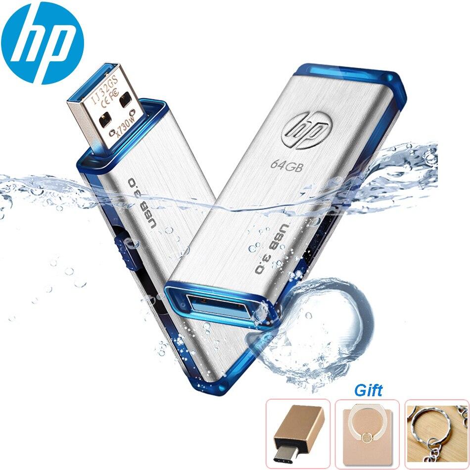 Original HP X730W USB Flash Drive 256GB 128GB 64GB 32GB Pendrive USB 3.0 Pen Drive METAL Waterproof USB Stick Disk