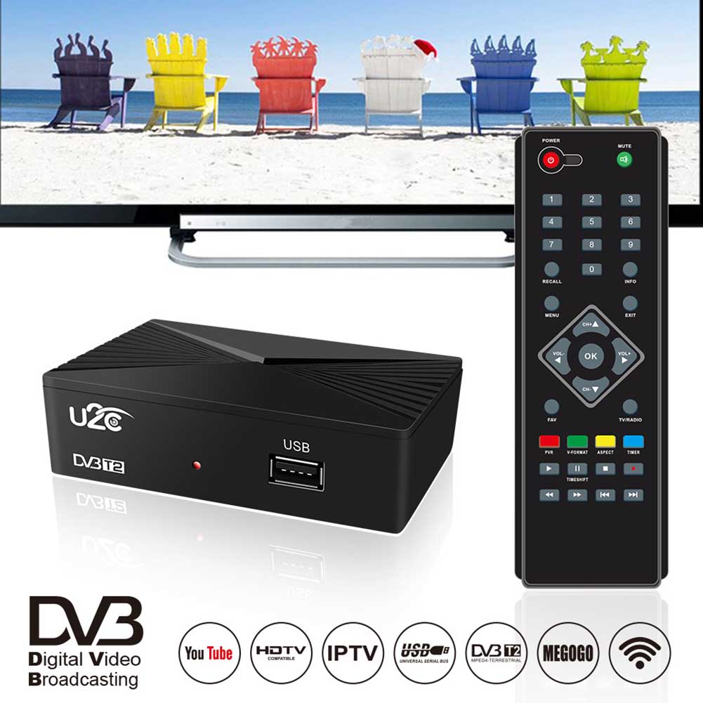 DVB C Port USB HDMI ABS récepteur de Signal de masse TV boîte PVR fonction WIFI HDTV Double coeur intelligent numérique sensible 1080P maison