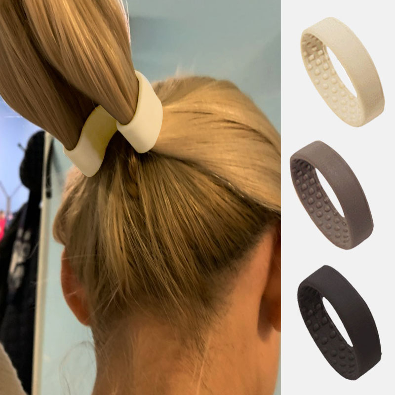 Ponytail-Holder Hair-Accessories Hair-Band Elastic Foldable Silicone Woman Stationarity