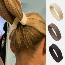 Kadın at kuyruğu tutucu saç kravat katlanabilir saç scrunchies silikon durağan elastik saç bandı basit saç aksesuarları