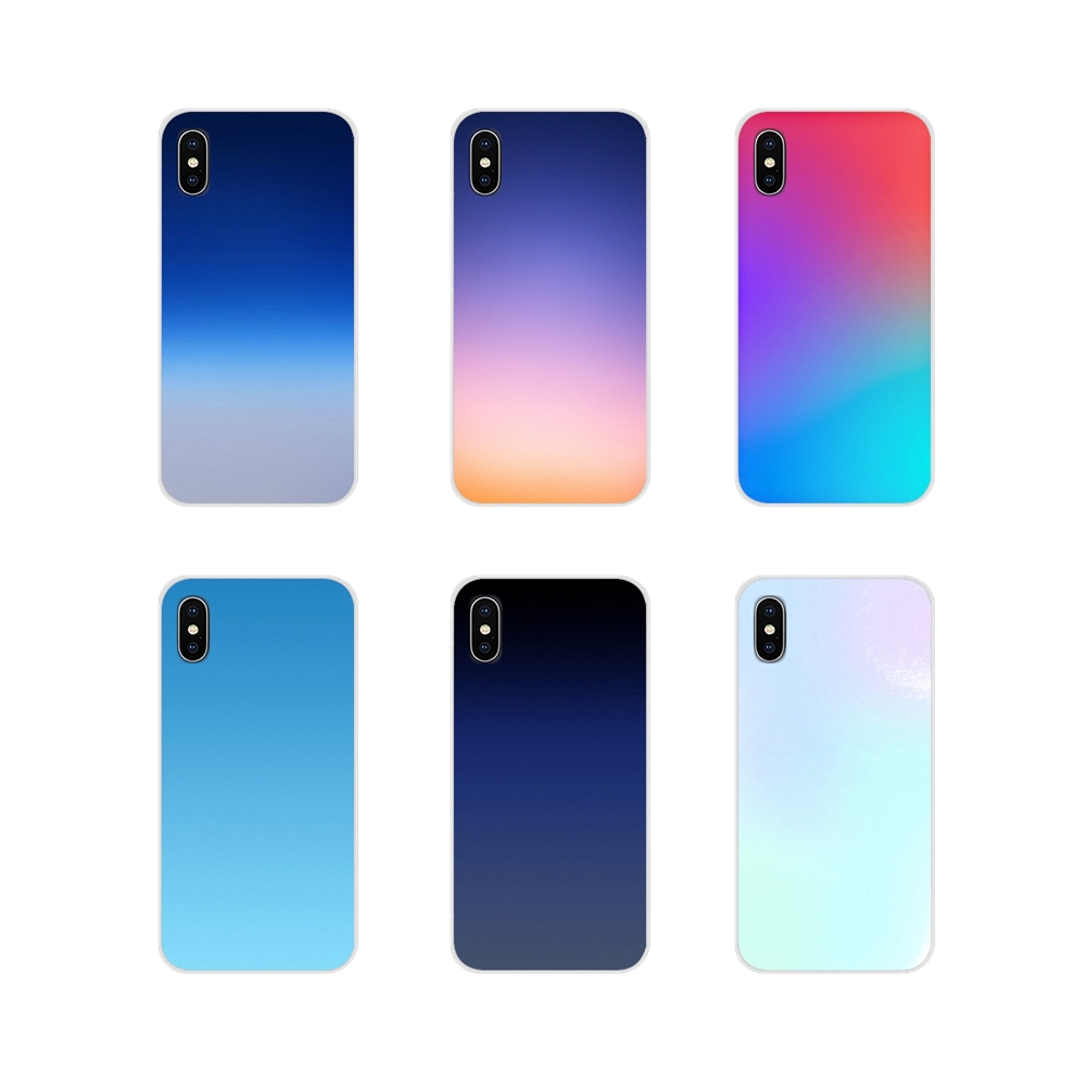 For LG G3 G4 Mini G5 G6 G7 Q6 Q7 Q8 Q9 V10 V20 V30 X Power 2 3 K10 K4 K8 2017 Silicone Phone Shell Case Gradient Changing Colors