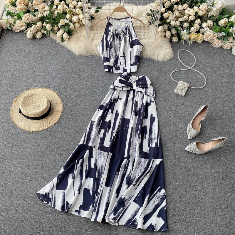 Two Piece Sets Woman Long Maxi Skirt 5